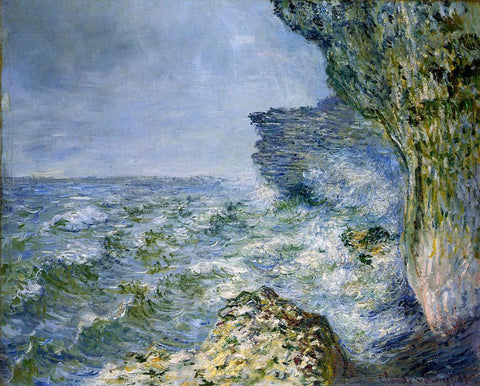Claude Oscar Monet The Sea at Fecamp - Hand Painted Oil Painting