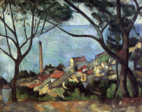 Paul Cezanne The Sea at L'Estaque - Hand Painted Oil Painting