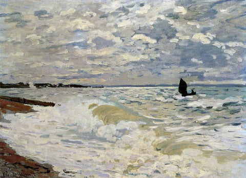 Claude Oscar Monet The Sea at Saint-Adresse - Hand Painted Oil Painting