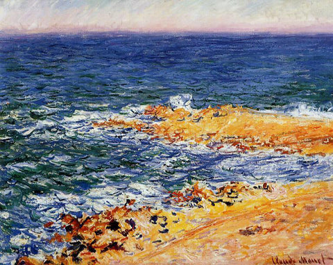 Claude Oscar Monet The Sea in Antibes - Hand Painted Oil Painting
