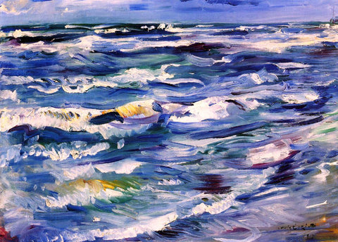 Lovis Corinth The Sea near La Spezia - Hand Painted Oil Painting