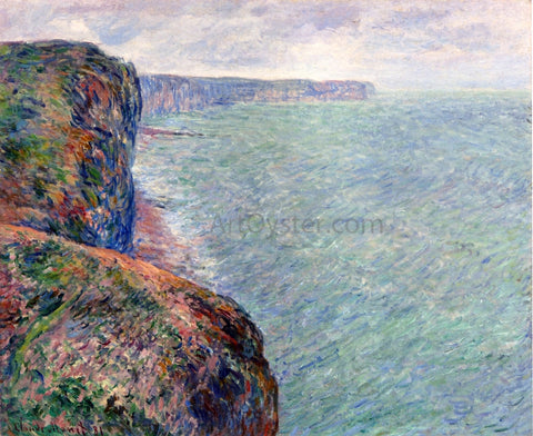 Claude Oscar Monet The Sea View of Cliffs - Hand Painted Oil Painting