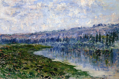 Claude Oscar Monet The Seine and the Chaantemesle Hills - Hand Painted Oil Painting