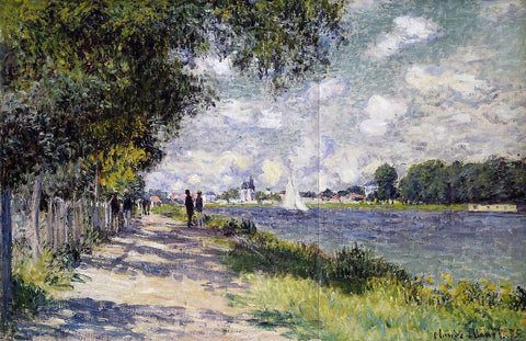 Claude Oscar Monet The Seine at Argenteuil - Hand Painted Oil Painting