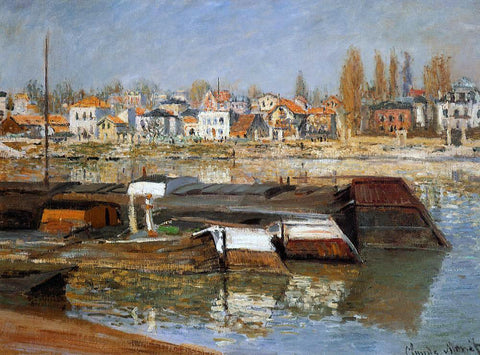 Claude Oscar Monet The Seine at Asnieres - Hand Painted Oil Painting