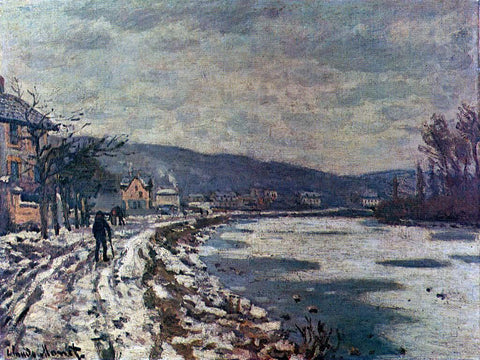 Claude Oscar Monet The Seine at Bougival - Hand Painted Oil Painting