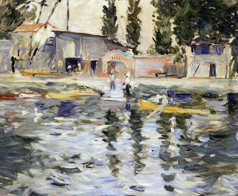 Berthe Morisot The Seine at Bougival - Hand Painted Oil Painting