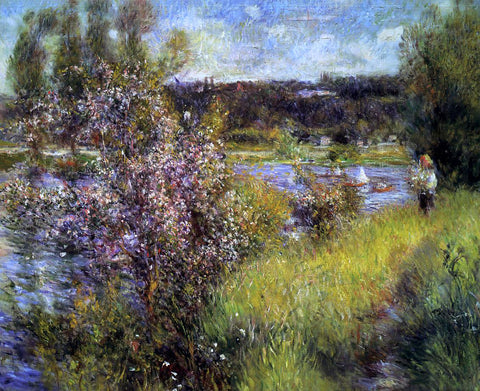 Pierre Auguste Renoir The Seine at Chatou - Hand Painted Oil Painting