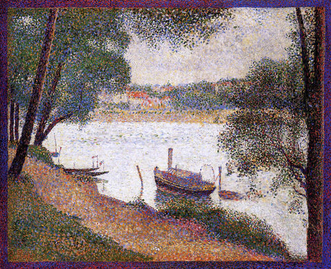 Georges Seurat The Seine at La Grande Jatte in the Spring - Hand Painted Oil Painting