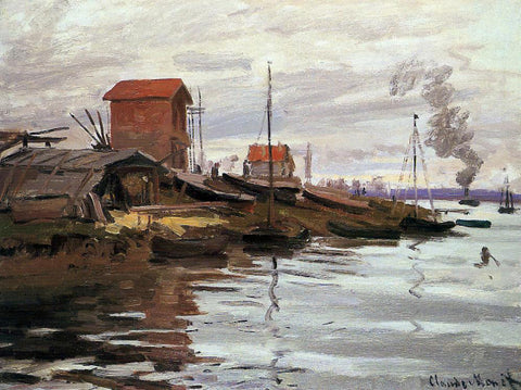 Claude Oscar Monet The Seine at Le Petit-Gennevilliers - Hand Painted Oil Painting