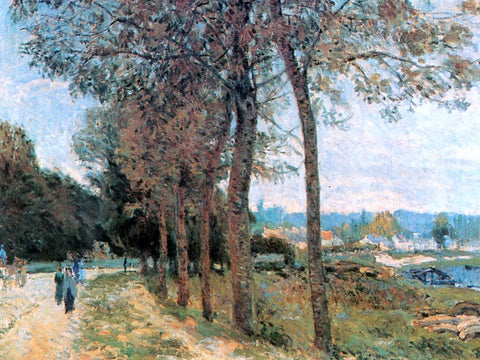 Alfred Sisley The Seine at Marly - Hand Painted Oil Painting