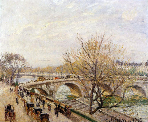 Camille Pissarro The Seine at Paris, Pont Royal - Hand Painted Oil Painting