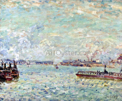 Alfred Sisley The Seine at Point du Jour - Hand Painted Oil Painting