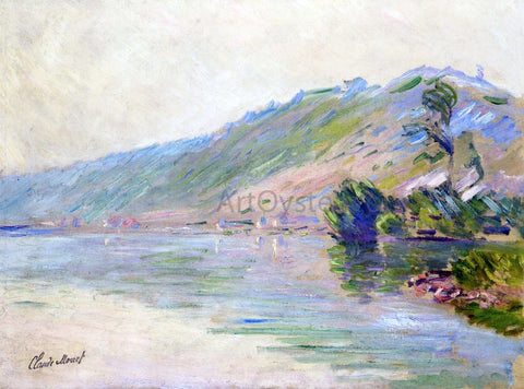 Claude Oscar Monet The Seine at Port-Villes, Clear Weather - Hand Painted Oil Painting
