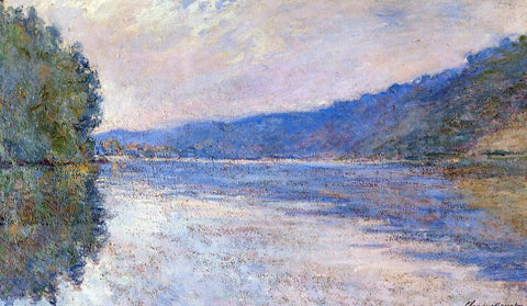 Claude Oscar Monet The Seine at Port-Villez - Hand Painted Oil Painting