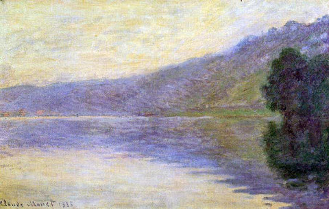 Claude Oscar Monet The Seine at Port-Villez, Harmony in Blue - Hand Painted Oil Painting