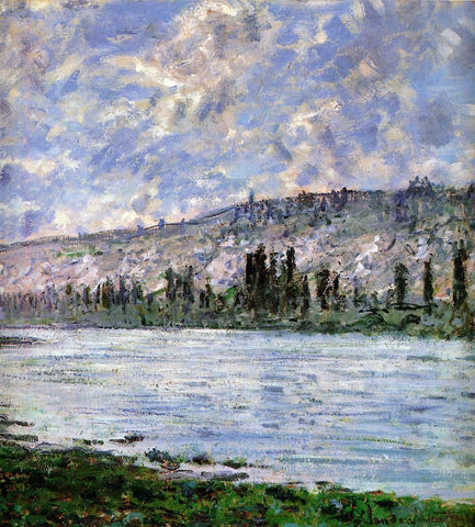 Claude Oscar Monet The Seine at Vetheuil (detail) - Hand Painted Oil Painting