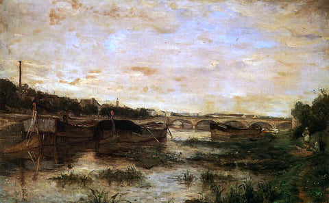 Berthe Morisot The Seine below the Pont d'Lena - Hand Painted Oil Painting