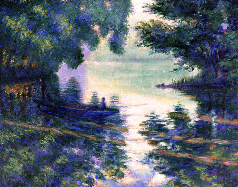 Theodore Earl Butler The Seine near Giverny - Hand Painted Oil Painting