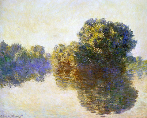 Claude Oscar Monet The Seine near Giverny - Hand Painted Oil Painting