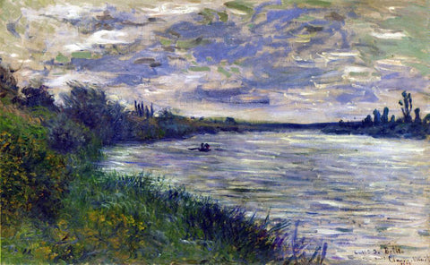 Claude Oscar Monet The Seine near Vetheuil, Stormy Weather - Hand Painted Oil Painting