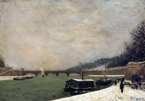 Paul Gauguin The Seine, Pont d'Iena, Snowing - Hand Painted Oil Painting