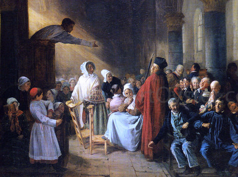 Francois-Auguste Biard The Sermon - Hand Painted Oil Painting