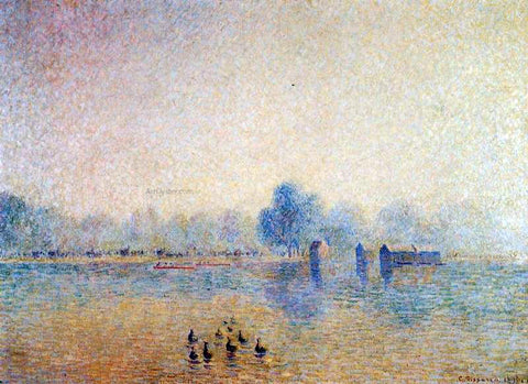 Camille Pissarro The Serpentine, Hyde Park, Fog Effect - Hand Painted Oil Painting