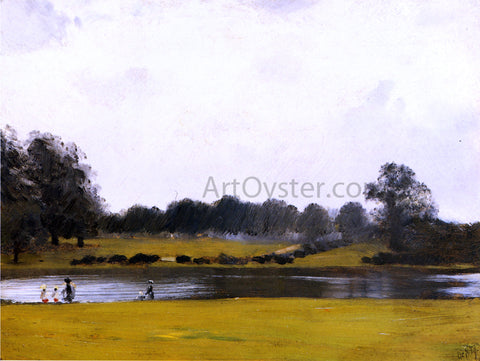 Giuseppe De Nittis The Serpentine, Hyde Park, London - Hand Painted Oil Painting
