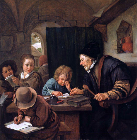 Jan Steen The Severe Teacher - Hand Painted Oil Painting