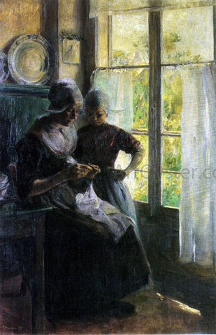 Elizabeth Nourse The Sewing Lesson - Hand Painted Oil Painting