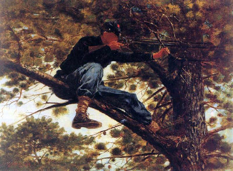Winslow Homer The Sharpshooter on Picket Duty - Hand Painted Oil Painting