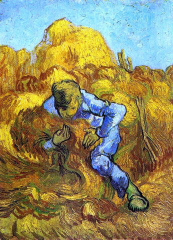 Vincent Van Gogh The Sheaf-Binder (after Millet) - Hand Painted Oil Painting