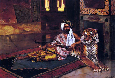 Rudolph Ernst The Sheik's Favorite - Hand Painted Oil Painting