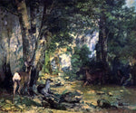Gustave Courbet A Shelter of the Roe Deer at the Stream of Plaisir-Fontaine, Doubs - Hand Painted Oil Painting