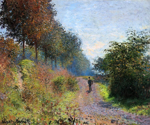 Claude Oscar Monet The Sheltered Path - Hand Painted Oil Painting