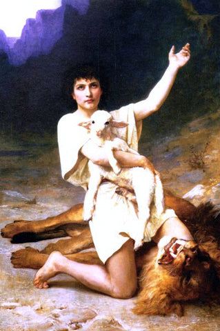 Elizabeth Gardner Bouguereau The Shepherd David - Hand Painted Oil Painting