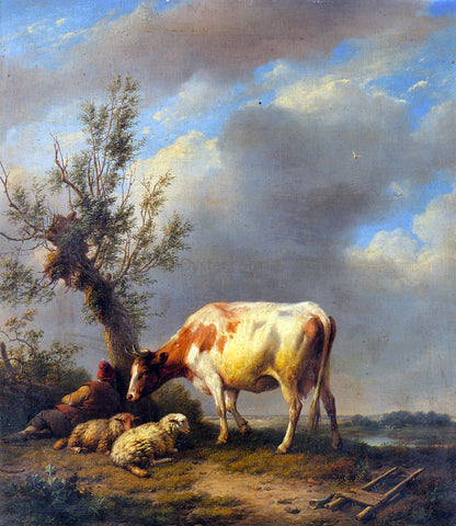 Eugene Verboeckhoven The Shepherd's Rest - Hand Painted Oil Painting