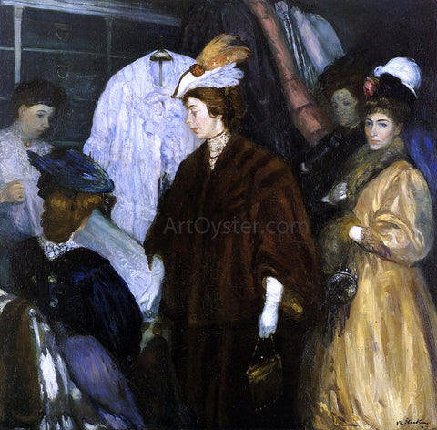 William James Glackens The Shoppers - Hand Painted Oil Painting