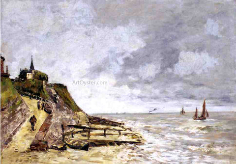 Eugene-Louis Boudin The Shore and the Sea, Villerville - Hand Painted Oil Painting