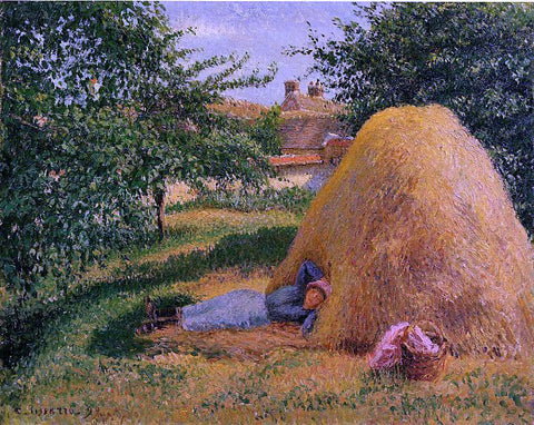 Camille Pissarro The Siesta - Hand Painted Oil Painting