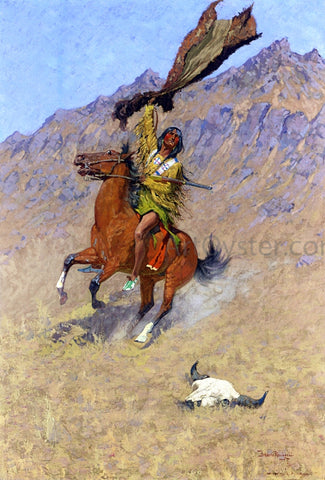 Frederic Remington The Signal (also known as If Skulls Could Speak) - Hand Painted Oil Painting
