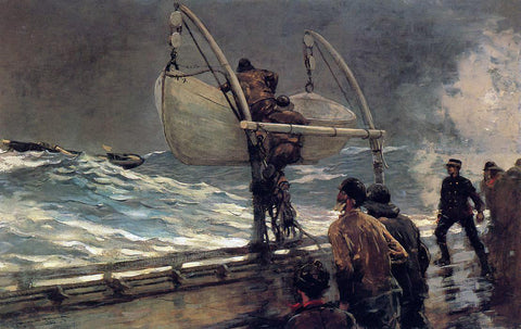 Winslow Homer The Signal of Distress - Hand Painted Oil Painting