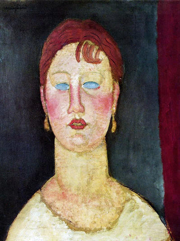 Amedeo Modigliani The Singer from Nice - Hand Painted Oil Painting