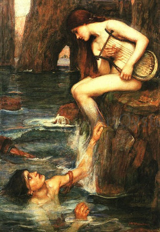 John William Waterhouse The Siren - Hand Painted Oil Painting