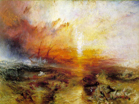 Joseph William Turner The Slave Ship - Hand Painted Oil Painting
