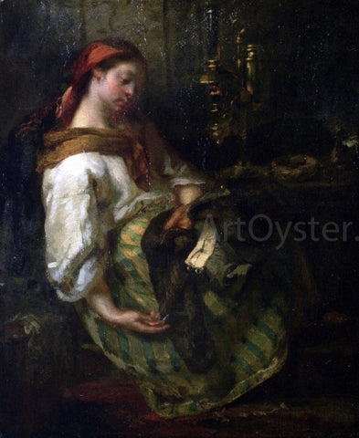 Jean-Francois Millet The Sleeping Seamstress - Hand Painted Oil Painting