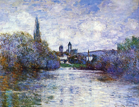 Claude Oscar Monet The Small Arm of the Seine at Vetheuil - Hand Painted Oil Painting