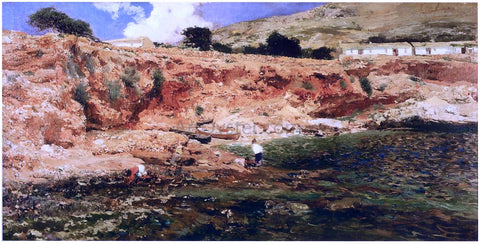 Joaquin Sorolla Y Bastida The Small cove, Javea - Hand Painted Oil Painting