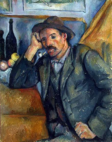 Paul Cezanne The Smoker - Hand Painted Oil Painting